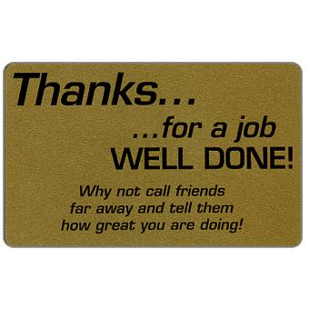 Teraco - Gold card, 'Thanks… for a job well done!', specimen