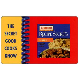 Phonecard for sale: Transcommunications - Lipton Recipe Secrets, complimentary 5 minutes