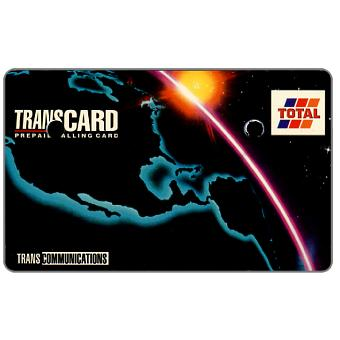 Phonecard for sale: Transcommunications - Transcard, Total, specimen, white back