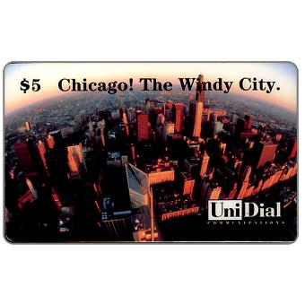 Phonecard for sale: UniDial - Chicago! The Windy City, $5