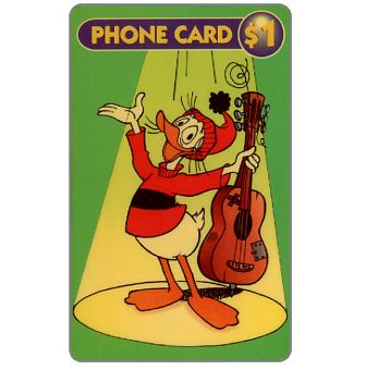 Phonecard for sale: Disney's Fethry Duck, $1