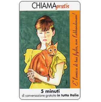 Phonecard for sale: Non l'abbandonare 1/5, 5 min.
