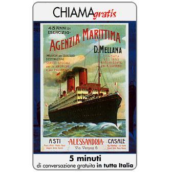 Phonecard for sale: Manifesti Compagnie Marittime 1/12, 5 min.
