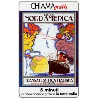 Phonecard for sale: Manifesti Compagnie Marittime 4/12, 5 min.