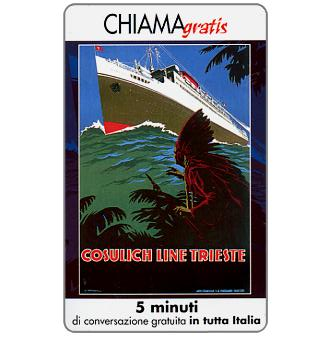 Phonecard for sale: Manifesti Compagnie Marittime 7/12, 5 min.