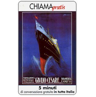 Phonecard for sale: Manifesti Compagnie Marittime 8/12, 5 min.
