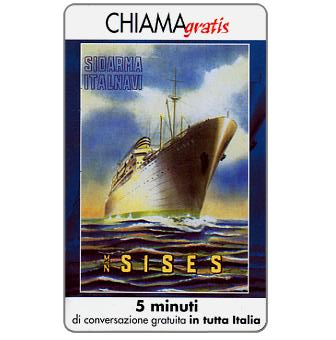 Phonecard for sale: Manifesti Compagnie Marittime 10/12, 5 min.
