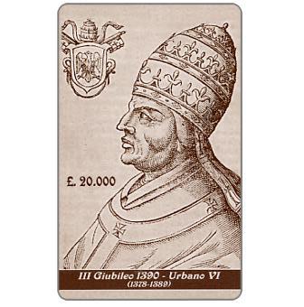 Phonecard for sale: Compagnia Telefonica Italiana per il Giubileo - III Giubileo 1390, Urbano VI, L.20000