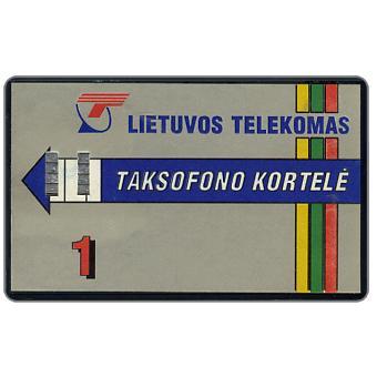 Lietuvos Telekomas, Taksofono Kortele, 1 Lt