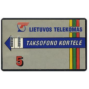 Lietuvos Telekomas, Taksofono Kortele, 5 Lt