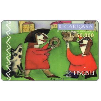 Phonecard for sale: Ricaricasa, Bullone e dado, L.50000