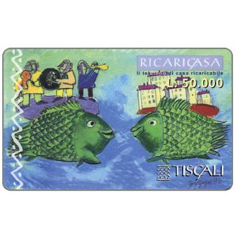 Phonecard for sale: Ricaricasa, Due pesci, L.50000