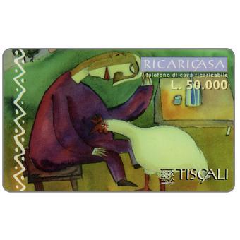 Phonecard for sale: Ricaricasa, Donna e gallina, L.50000