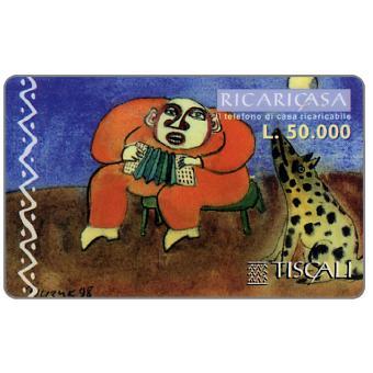 Phonecard for sale: Ricaricasa, Organino verde, L.50000