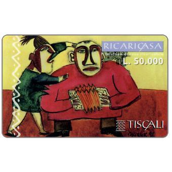 Phonecard for sale: Ricaricasa, Organino rosso, L.50000