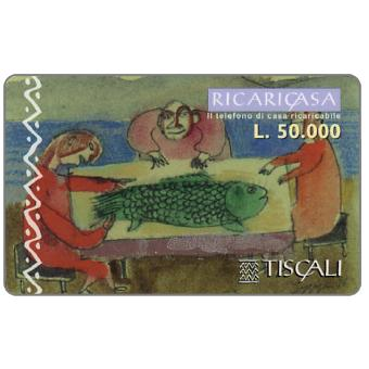 Phonecard for sale: Ricaricasa, Pesce in tavola, L.50000