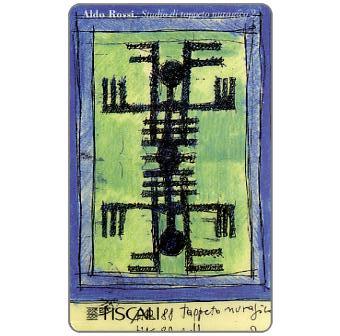 Phonecard for sale: Aldo Rossi - Studio di tappeto, L.20000