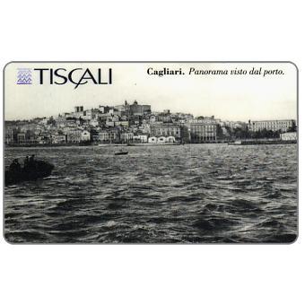 Phonecard for sale: Cagliari - Panorama dal porto, L.20000