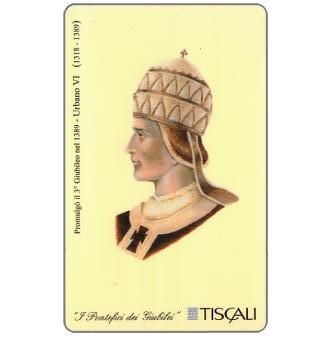Phonecard for sale: Promulgazione 3° Giubileo 1389 - Urbano VI, L.10000