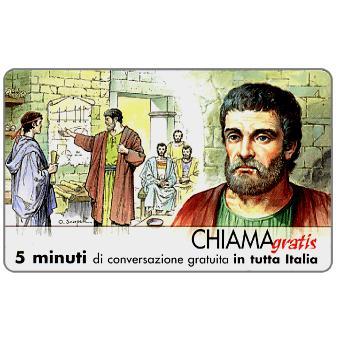 Phonecard for sale: Personaggi n. 12 – Talete di Mileto, 5 min.