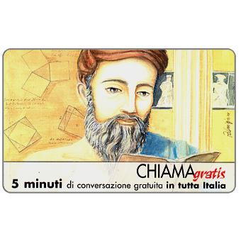 Phonecard for sale: Personaggi n. 14 – Pitagora di Samo, 5 min.