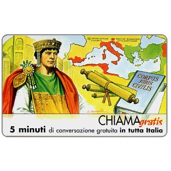 The Phonecard Shop: Personaggi n. 39 – Giustiniano I Imperatore, 5 min.