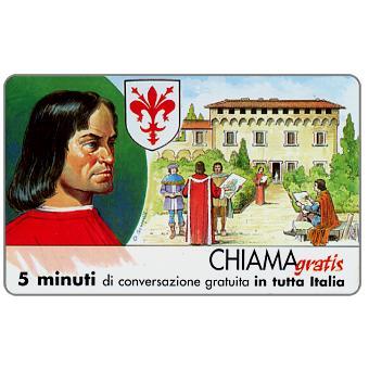 Phonecard for sale: Personaggi n. 55 – Lorenzo il Magnifico (De' Medici), 5 min.