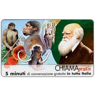 Phonecard for sale: Personaggi n. 75 – Charles Darwin, 5 min.