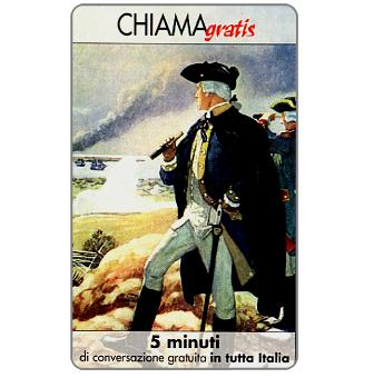 Phonecard for sale: Personaggi n. 76 – George Washington, 5 min.
