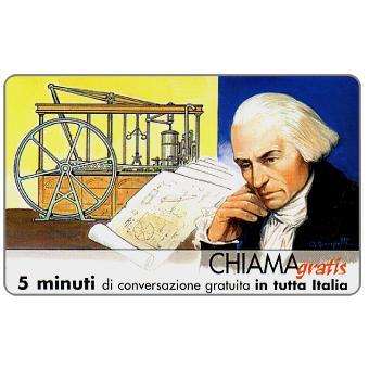 Phonecard for sale: Personaggi n. 77 – James Watt, 5 min.