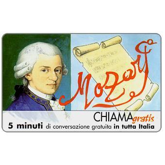 Phonecard for sale: Personaggi n. 80 – Wolfgang Amadeus Mozart, 5 min.