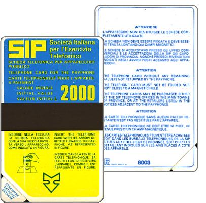Sip, Sida 1, first group, 8003, L.2000