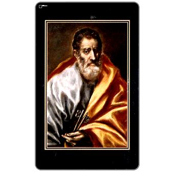 St.Peter, painting by El Greco, 100 units
