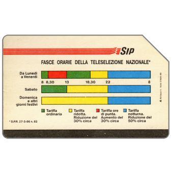 The Phonecard Shop: Fasce Orarie, Mantegazza, 31.12.91, L.5000