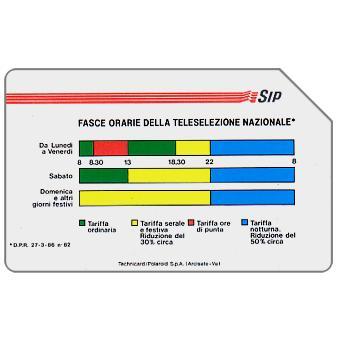 """The Phonecard Shop: Fasce Orarie, Pikappa, 31.12.92, """"La carta non è rimborsabile"""", L.10000"""