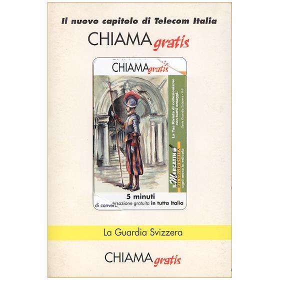 Phonecard for sale: La Guardia Svizzera 6/6, 5 min., in folder