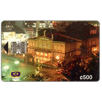 Phonecard for sale: National Theatre Centenary, 2nd edition 06/98, 500 colones