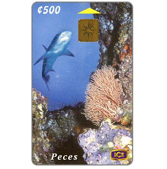 Phonecard for sale: Shark, 500 colones