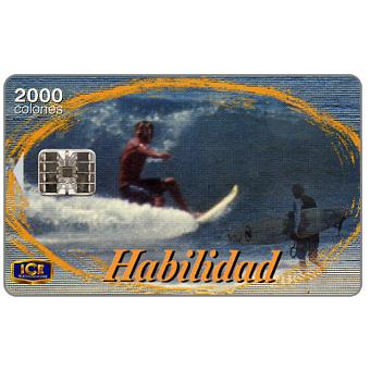 Phonecard for sale: Habilidad, surfing, 2000 colones