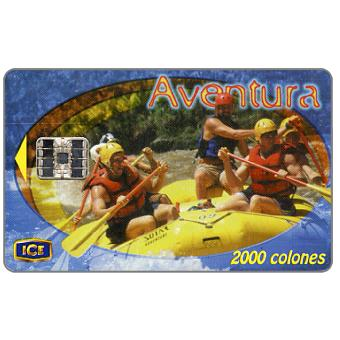 Phonecard for sale: Aventura, Rafting, 2000 colones