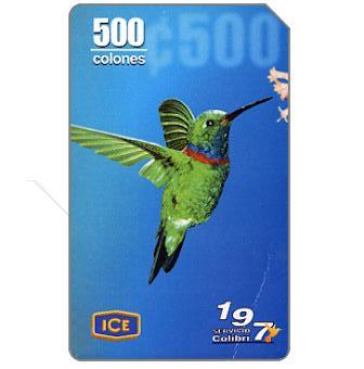 Colibri 197, 500 colones
