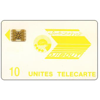 First issue, OPT logo, chip SC-4 GW Afnor, 10 units