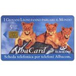 The Phonecard Shop: Albacom - First chip issue, three lions, L. 5.000