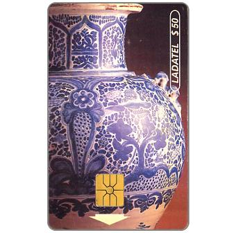 Ladatel, Pottery, Jarron, s.XVIII, $50