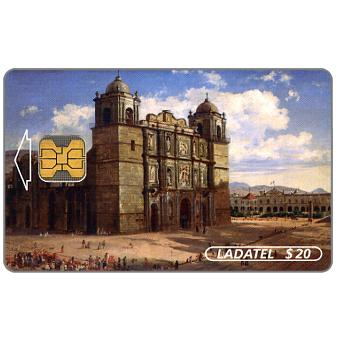 Ladatel, Mexican landscapes, paintings of the 19th century, Catedral de Oaxaca, $20