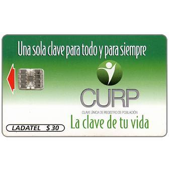 "Ladatel,  CURP, rev. ""www.gobernacion.gob.mx"", $30"