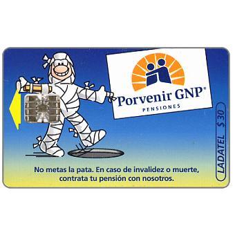 Ladatel, Porvenir GNP, Momia, blue left side rev., $30