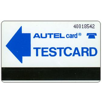 Testcard (first phonecards sold to public), normal zeroes, N40