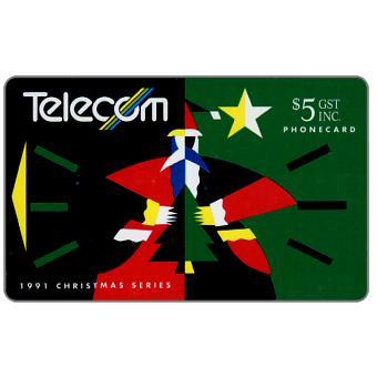 The Phonecard Shop: Christmas 1991, Santa Claus, $5