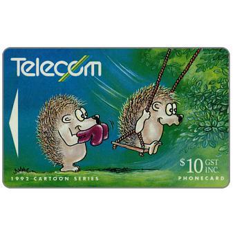 The Phonecard Shop: Bogor cartoons, Hedgehog & Swing, $10